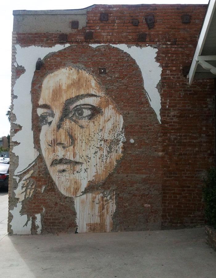 Street art by Alexandre Farto for European Bailout Show in LA